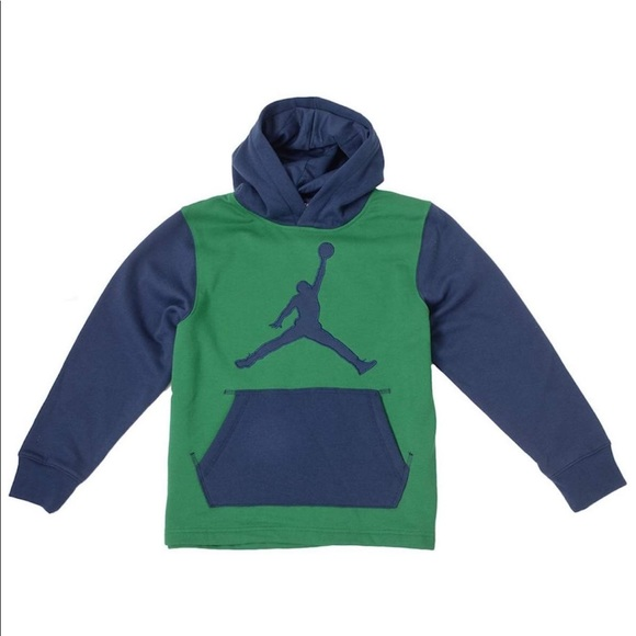 c1b905bb7bd6 Jordan Big Boys Nike Jumpman Pullover Hoodie